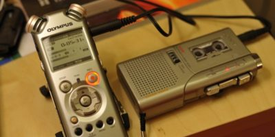 Audio digitizing setup - analog tape player to digital recorder